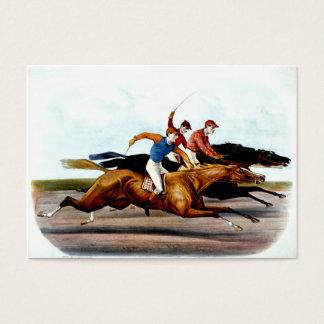 Cartes De Visite Course de chevaux SUPÉRIEURE d'amour