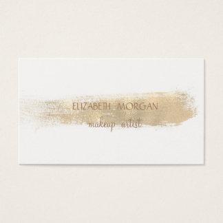 Cartes De Visite Course simple élégante de brosse de feuille d'or