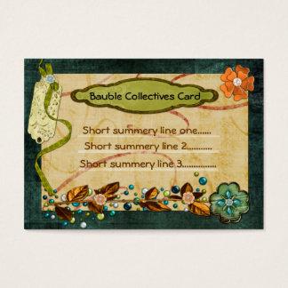 Cartes De Visite Coutume 2 d'associations collectives de babiole