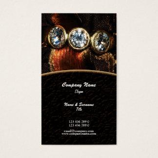 Cartes De Visite Coutume de diamant de bijoux de bijoutier de