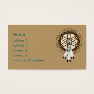 Cartes De Visite Coutume de Dreamcatcher de Natif américain de KRW