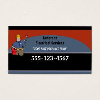 Cartes De Visite Coutume d'électricien personnalisée
