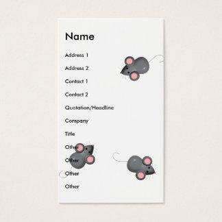 Cartes De Visite Couvert chez les souris