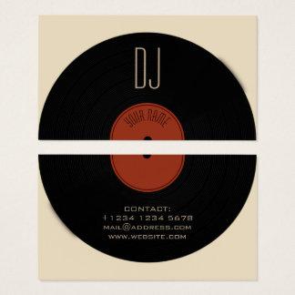 Cartes De Visite Couverture de plat de disque vinyle du DJ