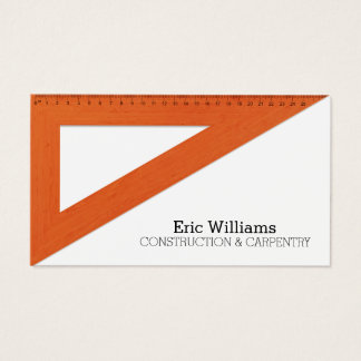 Cartes De Visite Couverture de règle de triangle