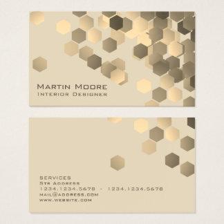 Cartes De Visite Couverture élégante de motif géométrique abstrait