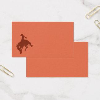 Cartes De Visite Cowboy de rodéo dans Sienna