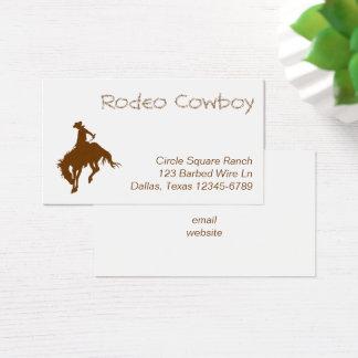 Cartes De Visite Cowboy de rodéo de Brown
