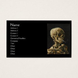 Cartes De Visite Crâne avec une cigarette brûlante par Van Gogh