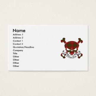Cartes De Visite Crâne de tartan de MacFie