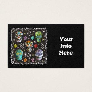 Cartes De Visite Crânes colorés de sucre