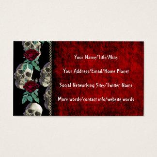 Cartes De Visite Crânes et fleurs