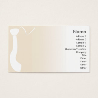Cartes De Visite Cravate beige - affaires