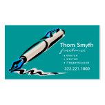 Cartes de visite créatifs élégants du rédacteur 4  cartes de visite professionnelles