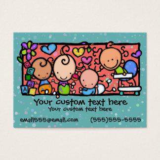 Cartes De Visite Crèche TEAL de garde d'enfants en bas âge de bébés