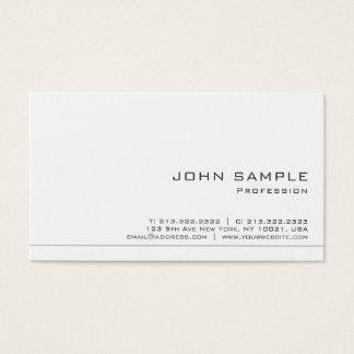Cartes De Visite Créez votre propre chic mat blanc moderne
