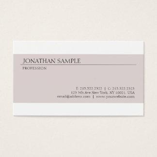 Cartes De Visite Créez votre propre conception élégante minimaliste