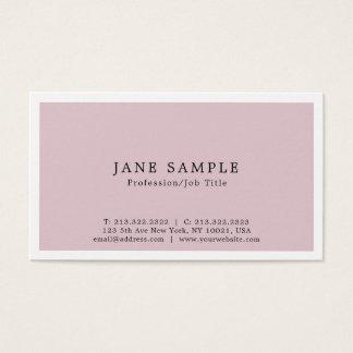 Cartes De Visite Créez votre propre conception simple élégante
