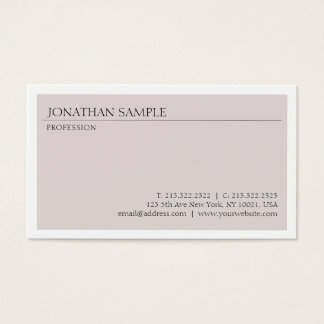 Cartes De Visite Créez votre propre plaine chic minimaliste moderne