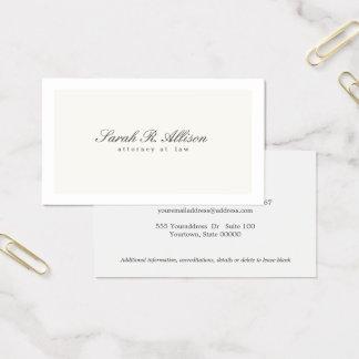 Cartes De Visite Crème élégante simple de professionnel de