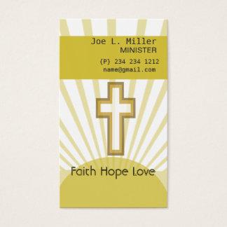 Cartes De Visite Croix chrétienne d'église de Jésus