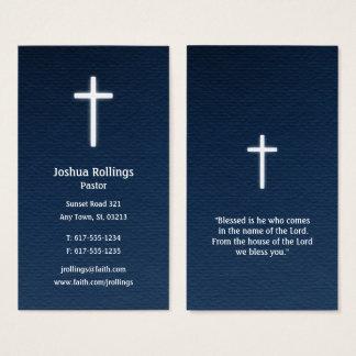 Cartes De Visite Croix chrétienne du pasteur |