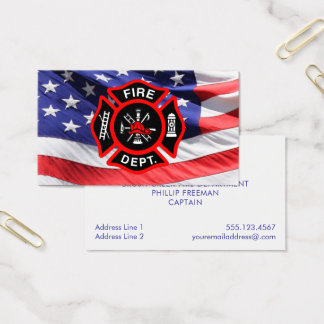 Cartes De Visite Croix maltaise de drapeau américain de