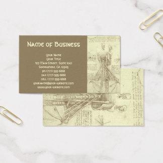 Cartes De Visite Croquis d'anatomie de colonne vertébrale Leonardo