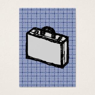 Cartes De Visite Croquis de valise de serviette ou de voyage de