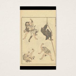 Cartes De Visite Croquis des arts martiaux japonais, Ninja C.