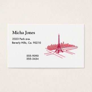 Cartes De Visite Croquis moderne de Tour Eiffel de Paris