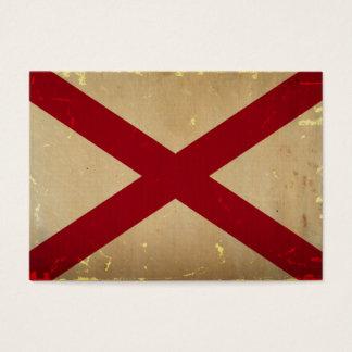 Cartes De Visite CRU de drapeau d'état de l'Alabama