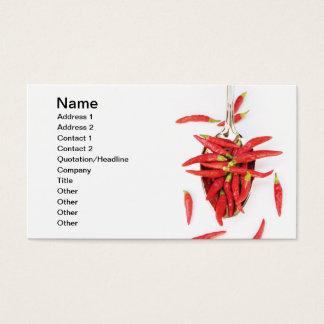 Cartes De Visite Cuillère de piments