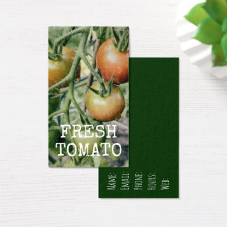Cartes De Visite Cuisine de tomate fraîche de jardin de tomates