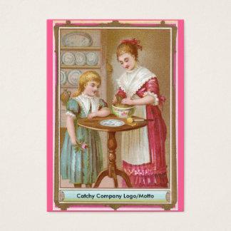 Cartes De Visite Cuisson victorienne de mère et de fille