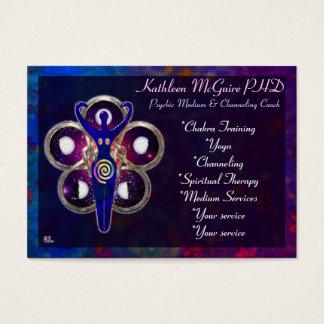 Cartes De Visite Culte LIGHTWORK PSYCHIQUE MOYEN de déesse des