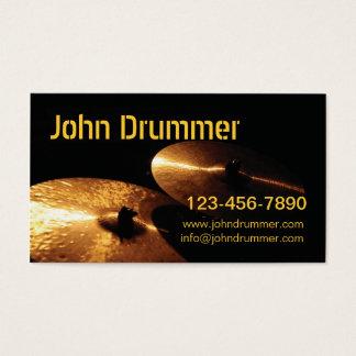 Cartes De Visite cymbales, batteur de John,
