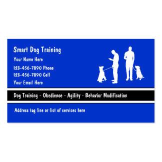 Cartes de visite d entraîneur de chien