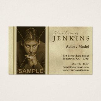 Cartes de visite d'acteur de modèle de texture de