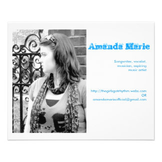 Cartes de visite d'Amanda Marie Prospectus 11,4 Cm X 14,2 Cm