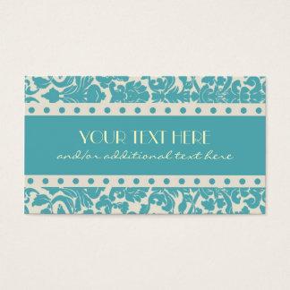 Cartes De Visite Damassé de bleu des oeufs de Robin
