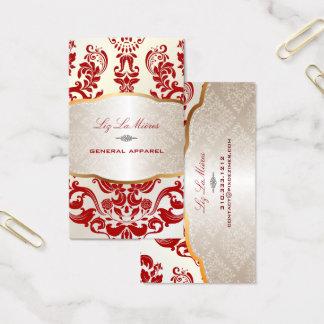Cartes De Visite Damassé/rouge de PixDezines Augusta