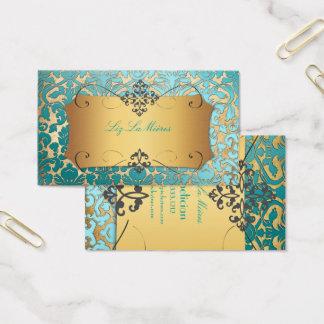 Cartes De Visite Damassé vintage de PixDezines Flora/parchemin de