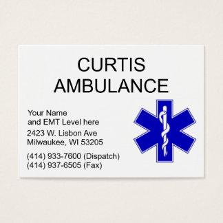 Cartes de visite d'ambulance de Curtis