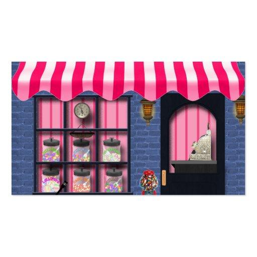 Cartes de visite d'amusement de magasin de sucreri cartes de visite professionnelles