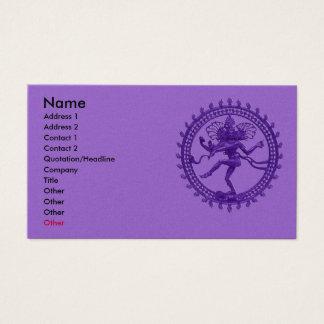 Cartes De Visite Danse de Shiva