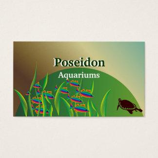 Cartes de visite d'aquarium