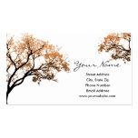Cartes de visite d'arbres de chute carte de visite