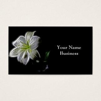 Cartes de visite d'art de fractale de lis blanc