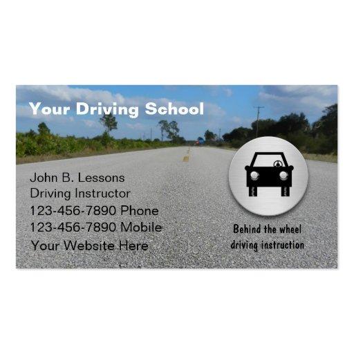 Cartes De Visite D Auto Ecole Carte Zazzle
